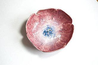 Nádoby - Keramická miska Ružový kvet - 8521990_