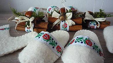 Dekorácie - Slovakia folk vianočná sada 10 ks - 8523286_