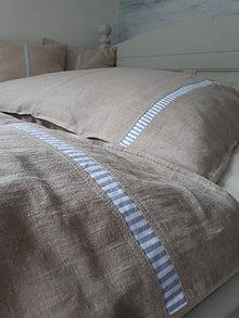 Úžitkový textil - Ľanové posteľné obliečky Mediteran Style - 8523676_