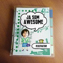"Papiernictvo - Ja som awesome ,,všetkozošit"" (abstraktný - kabelková lady) - 8522094_"