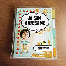 """Papiernictvo - Ja som awesome ,,všetkozošit"""" (abstraktný - pohoďáčka) - 8522490_"""