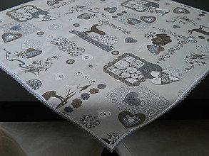 Úžitkový textil - Obrus hnedý - Zimný čas - 8524861_