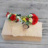 Čelenkový venček jesenný s ružičkami a bobuľkami