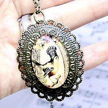 Náhrdelníky - Singing Bird Bronze Filigree Necklace / Bronzový náhrdelník Vtáčik /0496 - 8524728_