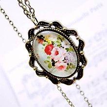 Náhrdelníky - Garden of Roses Bronze Filigree Necklace / Bronzový náhrdelník Ružová Záhrada /0496 - 8524733_
