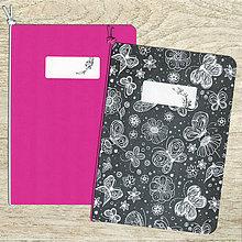 Papiernictvo - sada zošitov A5 - ružová - 8526330_