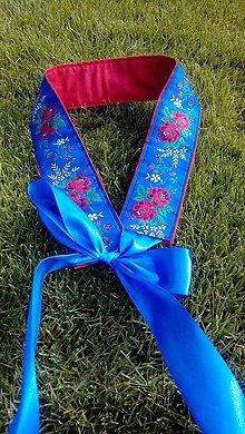 Opasky - opasok folklórny modrý - 8524335_