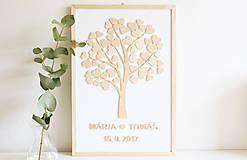 Dekorácie - Kniha hostí - strom - 8524979_