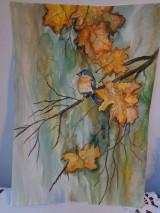 Obrazy - Volanie jesene (akvarel) - 8526370_
