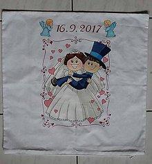 Úžitkový textil - svadobná obliečka - 8526723_