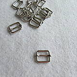 Galantéria - Prevliečna skracovacia spona 16 mm nikel - 8524194_