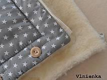 Textil - Deka a fusak DANIEL 2 v 1 100% merino Top Super wash Hviezdička šedá pastelová - 8524692_