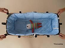 Textil - Hniezdo do vaničky kočíka MIMA XARI 100% bavlna Hviezdička svetlo modrá - 8524743_