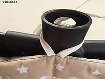 Textil - Hniezdo do vaničky kočíka MIMA XARI 100% bavlna Hviezdička svetlo modrá - 8524746_