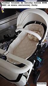 Textil - Hniezdo do vaničky kočíka MIMA XARI 100% bavlna Hviezdička svetlo modrá - 8524751_