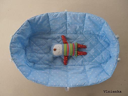 Hniezdo do vaničky kočíka MIMA XARI 100% bavlna Hviezdička svetlo modrá