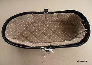 Textil - Hniezdo do vaničky kočíka MIMA XARI /KOBI  100% bavlna Hviezdička krémová - 8524814_