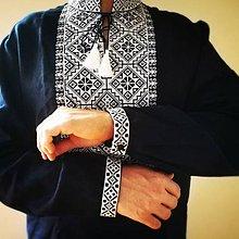 Oblečenie - Vyšívaná ľanová košeľa Vlastimil - 8524292_