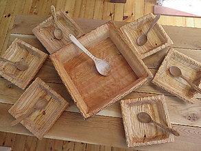 Nádoby - Drevené misky na halušky - sada - 8525316_