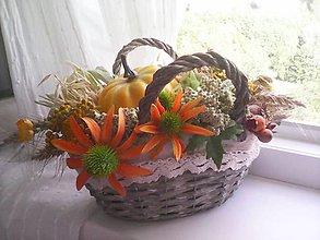 """Dekorácie - Jesenná dekorácia """"...slnko v košíku..."""" - 8526933_"""
