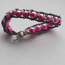 Náramky - ružový náramok Mirka - 8524384_