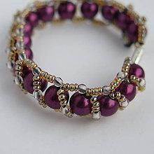 Detské doplnky - fialový náramok Danka - 8524405_