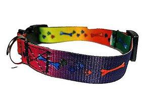 Pre zvieratá - Obojok farebné kostičky - 8524714_