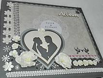 """Papiernictvo - Svadobný fotoalbum elegantný """"Romantik"""" - 8525122_"""