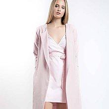 Kabáty - Růžový kabát z teplákoviny - 8524363_