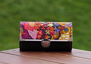 Peňaženky - Peněženka Libris růžová, 18 karet, 2 zipy - 8525529_