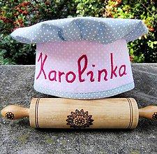 Detské čiapky - Kuchárska čiapka s menom - 8525968_
