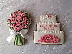 Dekorácie - medovník-kytička a tortička - 8529269_
