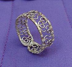 Prstene - Prsteň, nastaviteľný, WIRE LACE - 8527803_