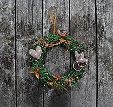 Dekorácie - Vianočný veniec - prírodný - 8529502_