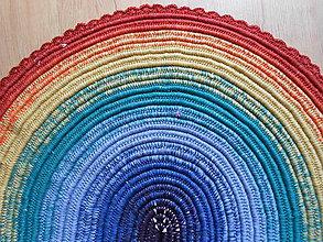 Úžitkový textil - Recy predložka DÚHA - 8528679_
