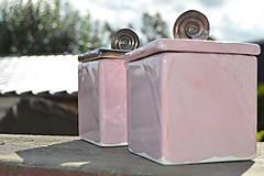 Nádoby - Dóza kocka ružová i zlatá :o)). - 8529384_