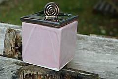 Nádoby - Dóza kocka ružová i zlatá :o)). - 8529390_