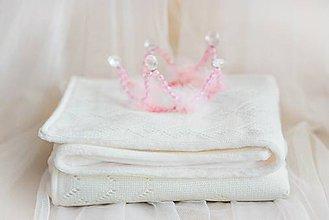 """Textil - Pletená Deka ,,Classic Royal"""", OEKO-TEX® 100 - Smotanová - 8527404_"""