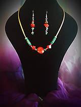 Sady šperkov - Tyrkys + Koral set - 8527839_