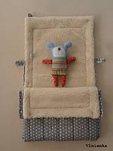 Textil - 100% Ovčie rúno merino Baranček FUSAK pre deti do kočíka Hviezdička sivá - 8529632_