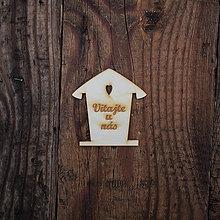 Dekorácie - Drevený domček - Vitajte - 8527473_