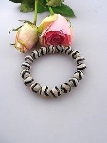 Náramky - Tibetský achát zebra náramok - 8527246_