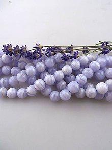 Minerály - chalcedón modrý korálky 10mm - 8528446_