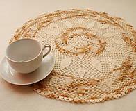 Úžitkový textil - Háčkovaná dečka Karamelová - 8528408_