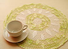Úžitkový textil - Háčkovaná dečka Limetková - 8528432_