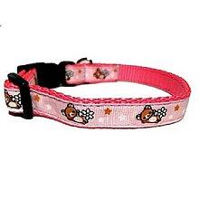 Pre zvieratká - Ružový obojok Medvedík - 8528005_