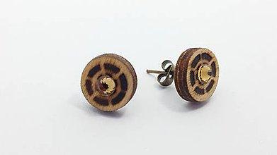 Náušnice - Drevené náušnice - 8529550_