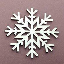 Dekorácie - Vianočná drevená ozdoba vločka - 8527617_