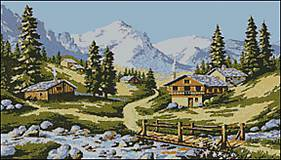 K030 Jar v Alpách - predloha na vyšívanie