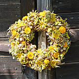 - Jesenný slamienkový veniec na dvere - 8527692_